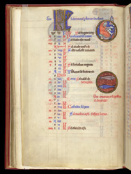 February, in a Psalter